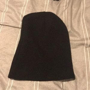 Other - Black Beanie with White stripes inside